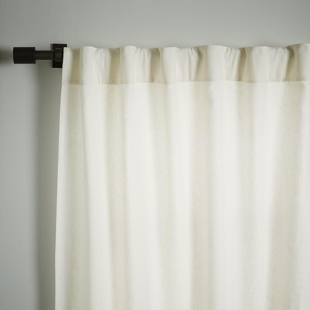 Linen Cotton Curtain Blackout Lining White West Elm