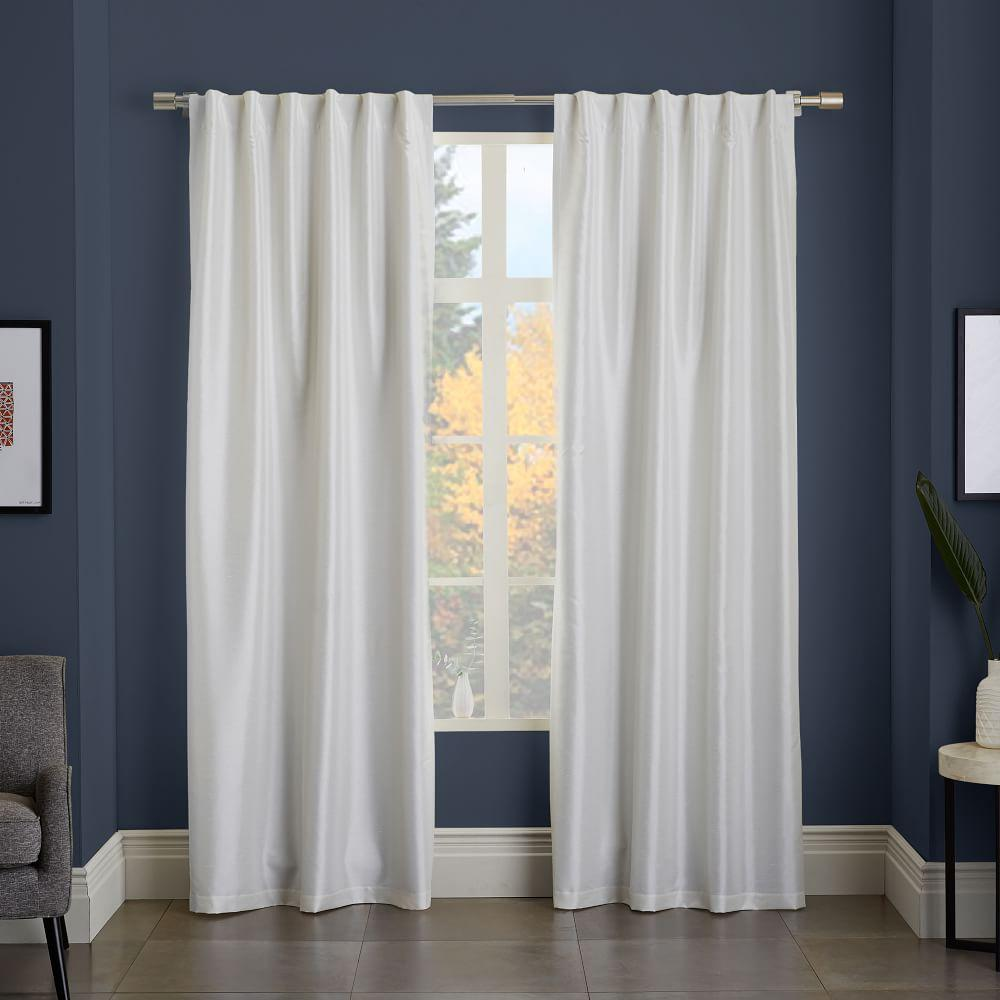greenwich curtain blackout liner ivory west elm au