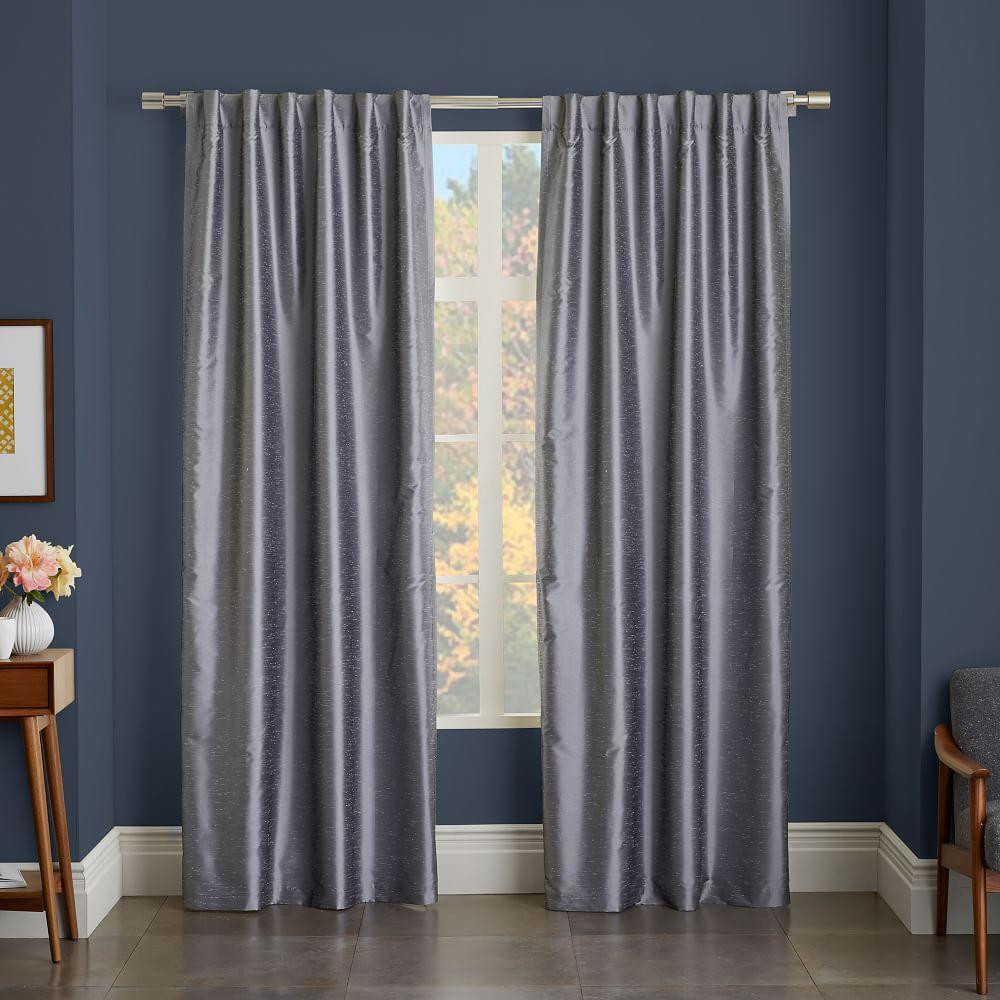 greenwich curtain blackout liner platinum west elm au