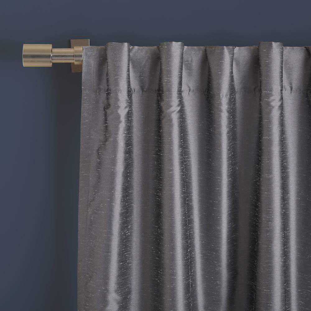 Greenwich Curtain + Blackout Liner - Platinum