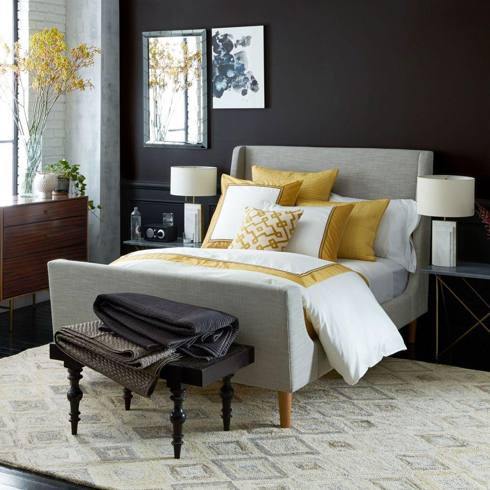 Upholstered Sleigh Bed West Elm Au