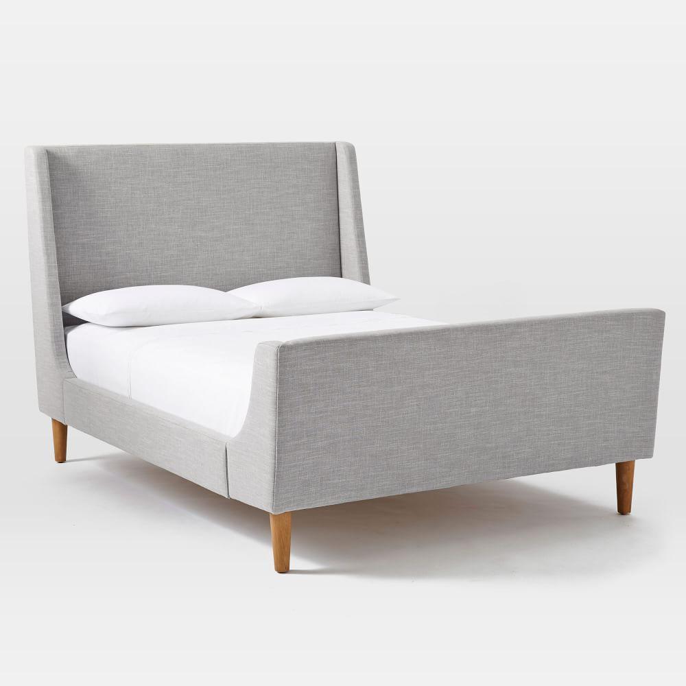 Upholstered sleigh bed west elm au for Upholstered sleigh bedroom set