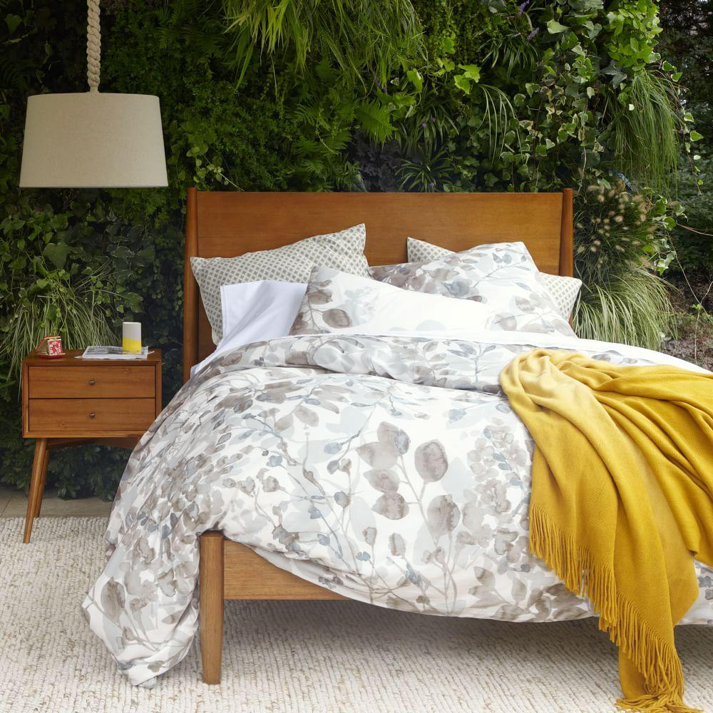 Mid Century Bed Mid Century: Mid-Century Bed - Acorn