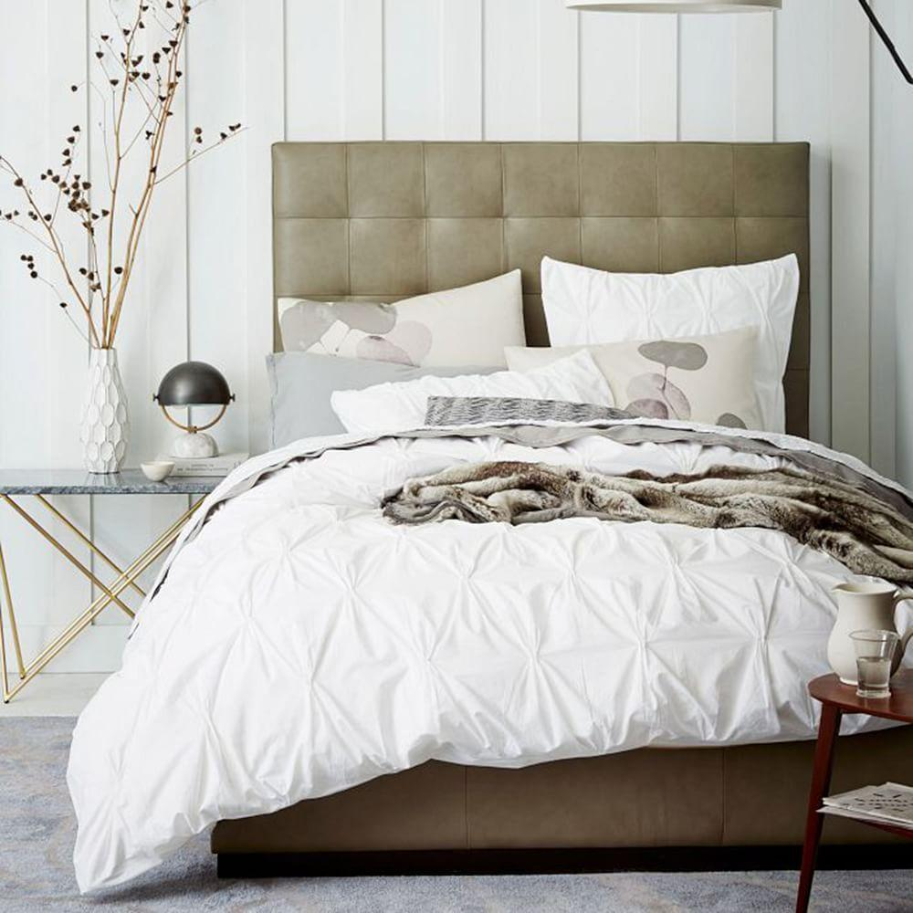 Organic Cotton Pintuck Quilt Cover + Pillowcases | west elm AU : pintuck quilt cover - Adamdwight.com