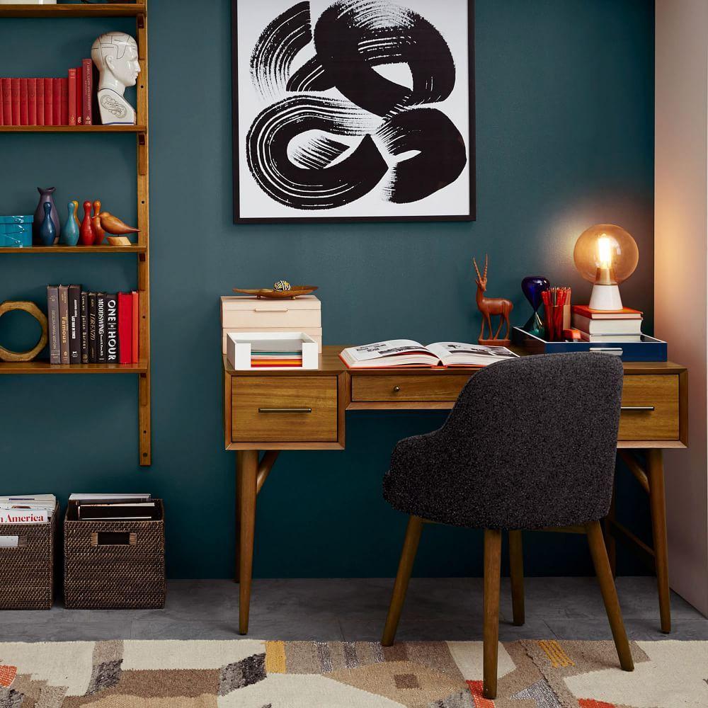 mid century desk acorn west elm australia. Black Bedroom Furniture Sets. Home Design Ideas
