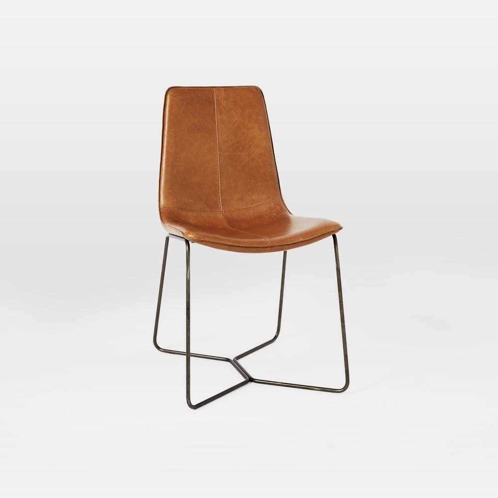 West Elm Chairs: Leather Slope Dining Chair