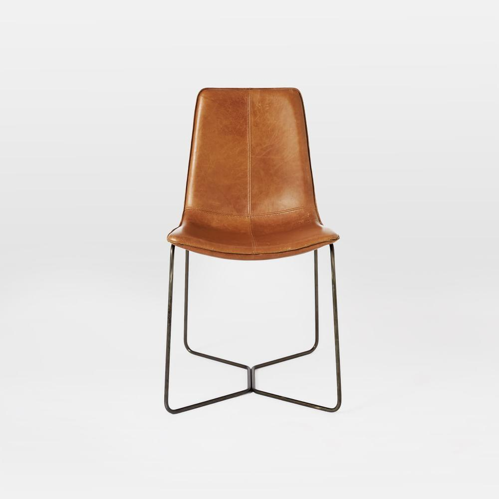 Leather Slope Dining Chair West Elm AU
