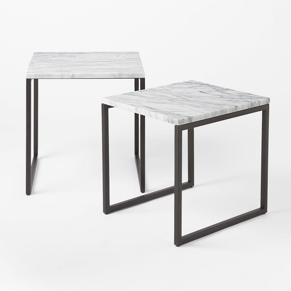 Nesting Tables Box Frame Nesting Tables Marble West Elm Au