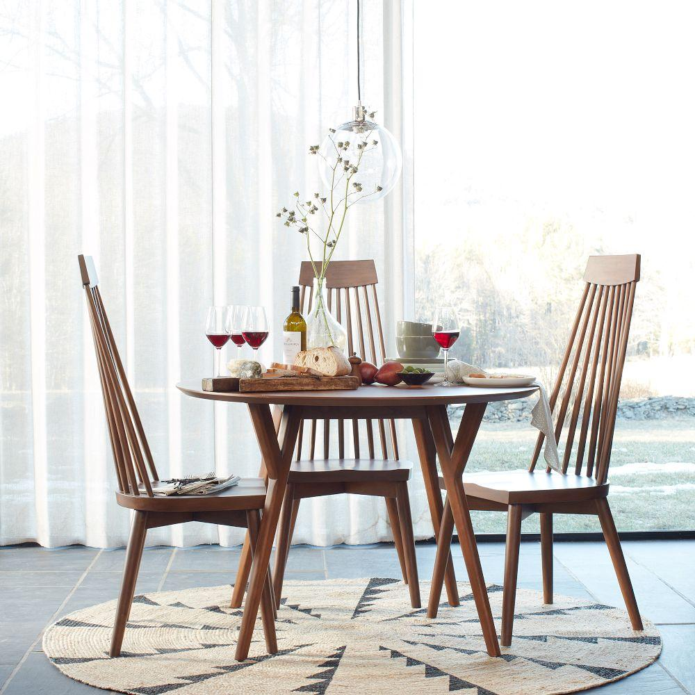 mid century round dining table west elm au. Black Bedroom Furniture Sets. Home Design Ideas