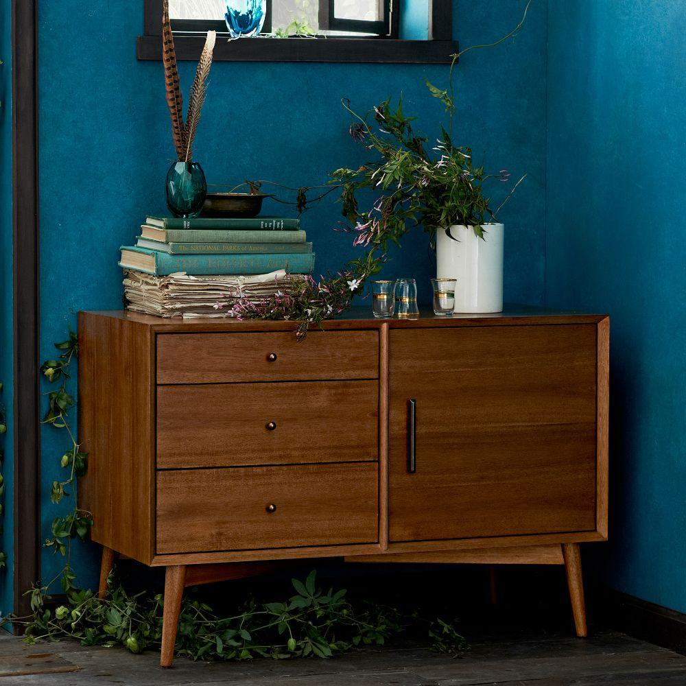 mid century media console 102 cm acorn west elm australia. Black Bedroom Furniture Sets. Home Design Ideas