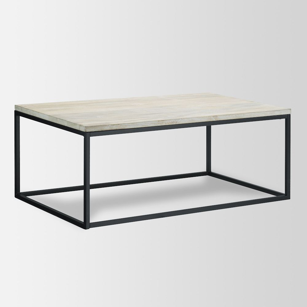 Box frame coffee table whitewash Whitewash coffee table