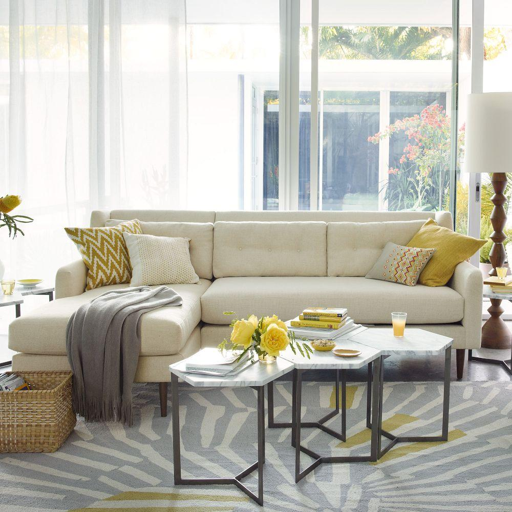 Hex side table west elm australia for Side table for sectional sofa