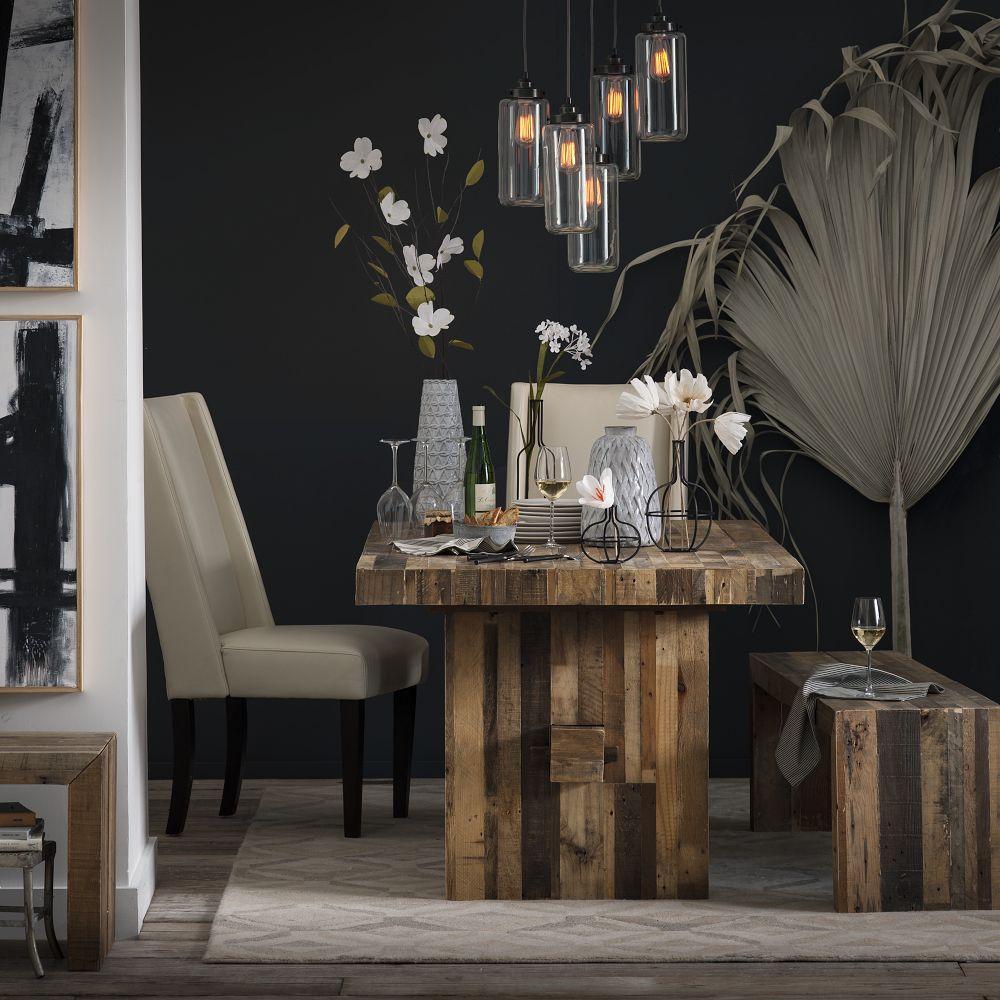emmerson reclaimed wood dining table. Black Bedroom Furniture Sets. Home Design Ideas