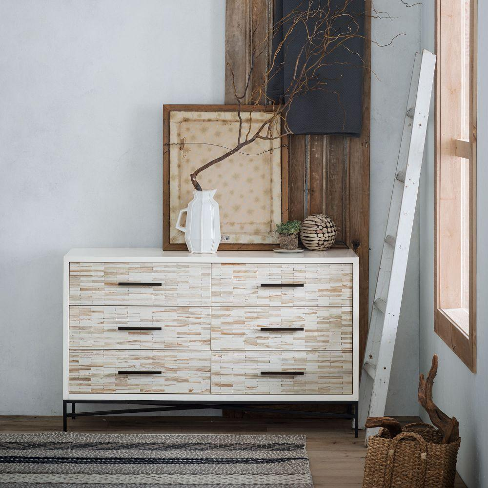 Wood Tiled 6 Drawer Dresser West Elm Au