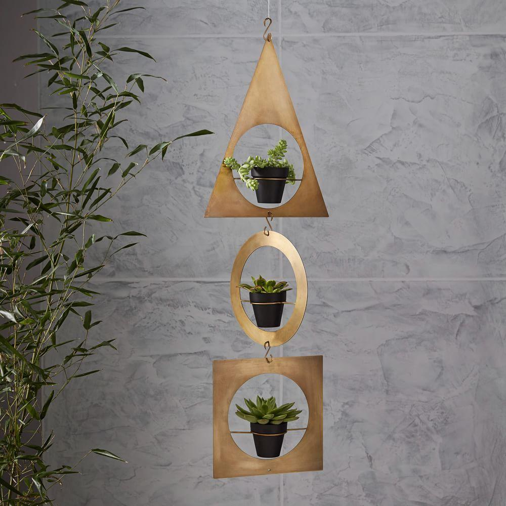 Modern furniture home decor home accessories west elm - Metal hanging planter ...