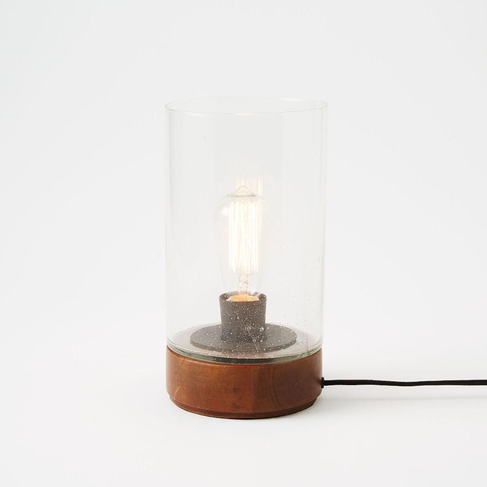 Bubble glass cylinder table lamp west elm au bubble glass cylinder table lamp mozeypictures Gallery