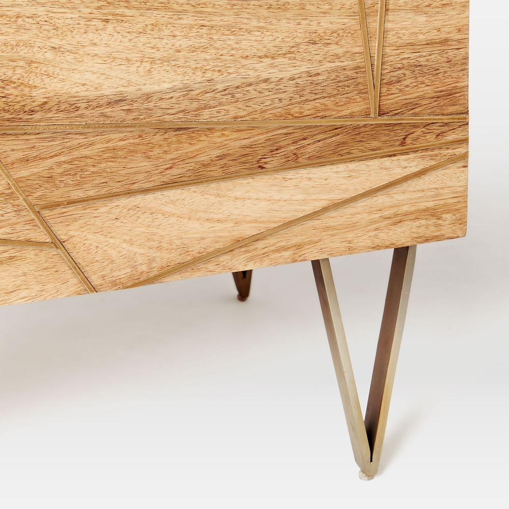 Roar + Rabbit™ Brass Geo Inlay Bedside Table
