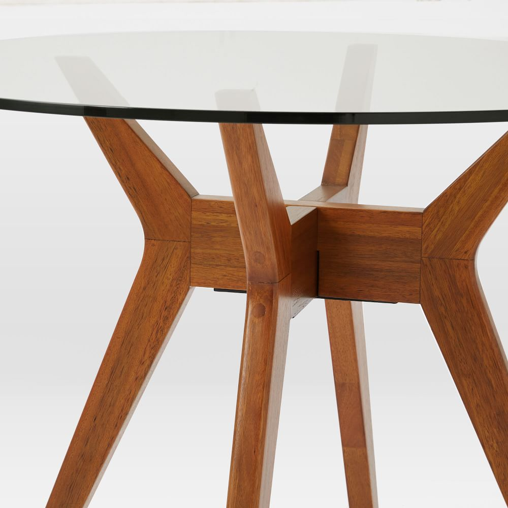 Jensen Round Glass Dining Table West Elm Australia
