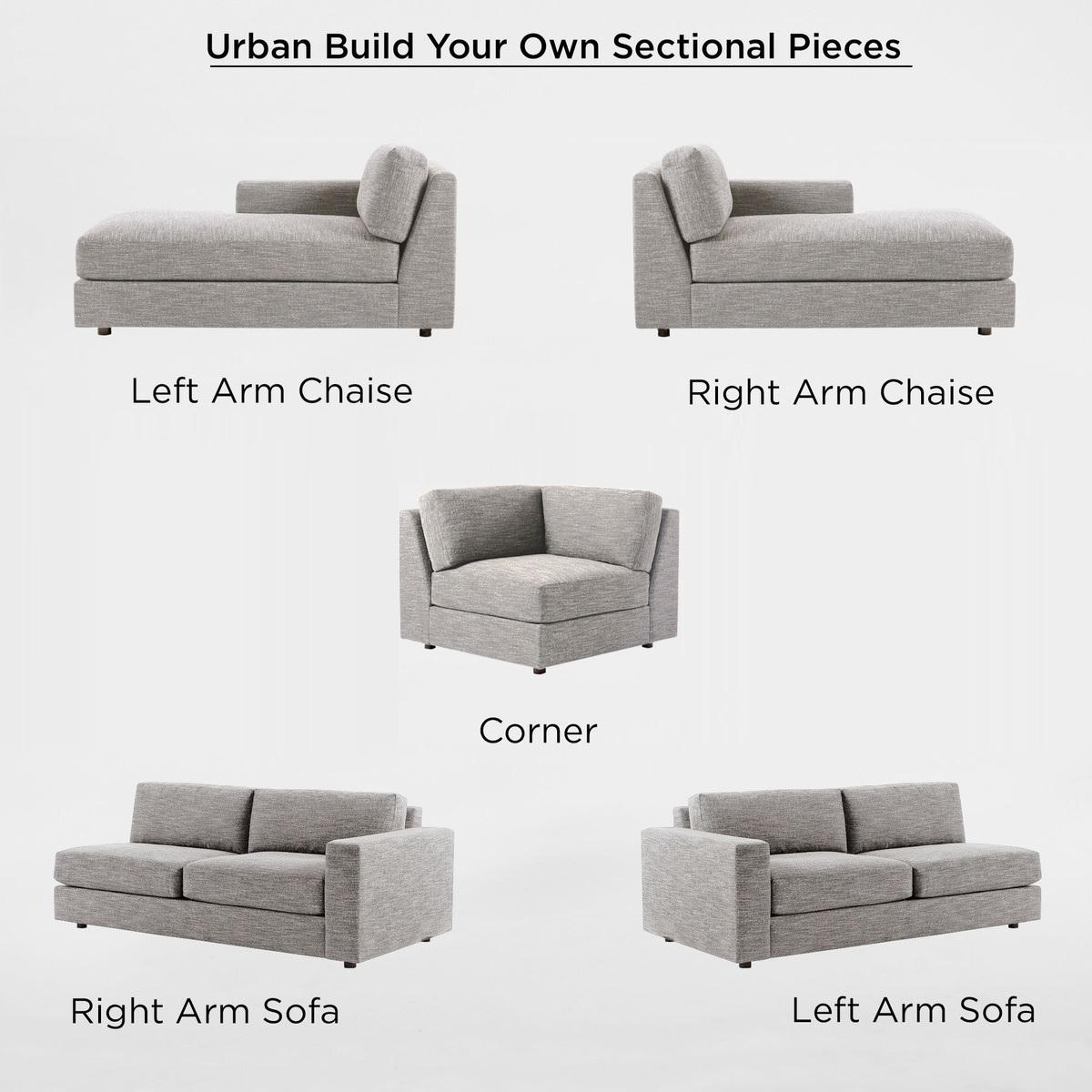 build your own urban sectional pieces cement heathered tweed west elm australia. Black Bedroom Furniture Sets. Home Design Ideas