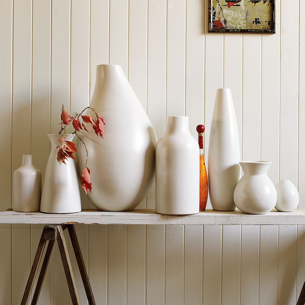 Pure White Ceramic Vases West Elm Au
