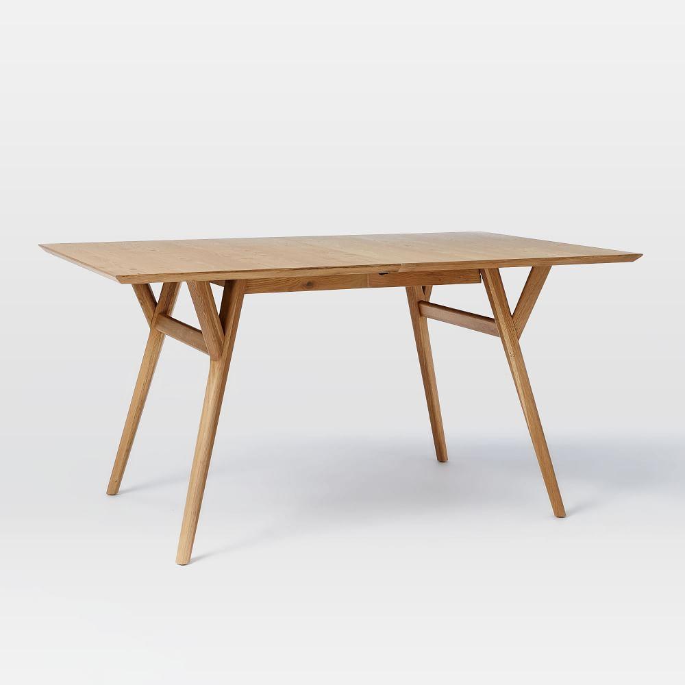 mid century expandable dining table oak. Black Bedroom Furniture Sets. Home Design Ideas