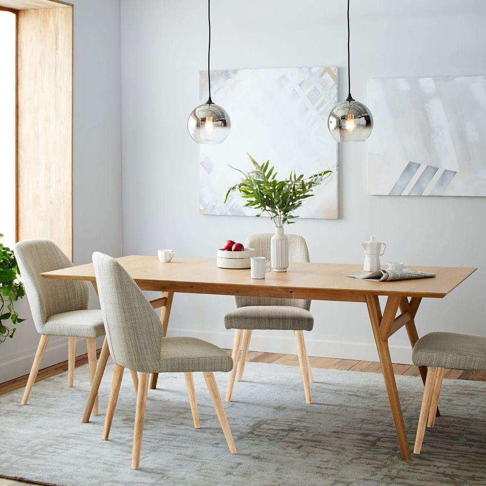 Design West Elm Dining Table mid century expandable dining table oak west elm au oak