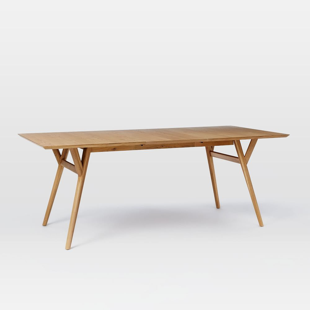 Mid Century Expandable Dining Table Oak west elm AU