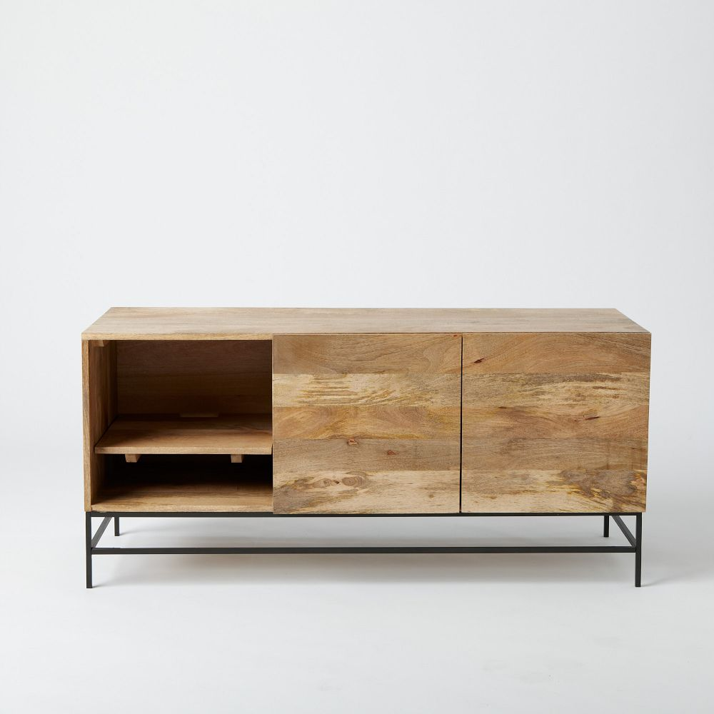 Industrial Storage Media Console 132 Cm West Elm Au