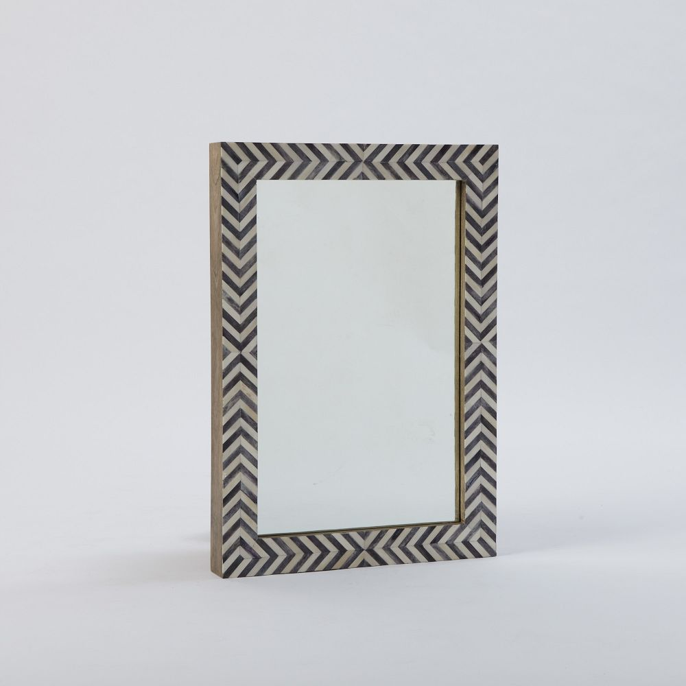 Parsons wall mirror grey herringbone west elm au parsons wall mirror grey herringbone amipublicfo Image collections