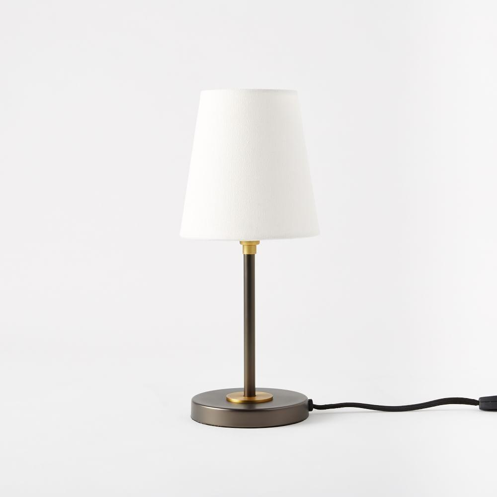 Arc Mid Century Table Lamp Small Antique Bronze West
