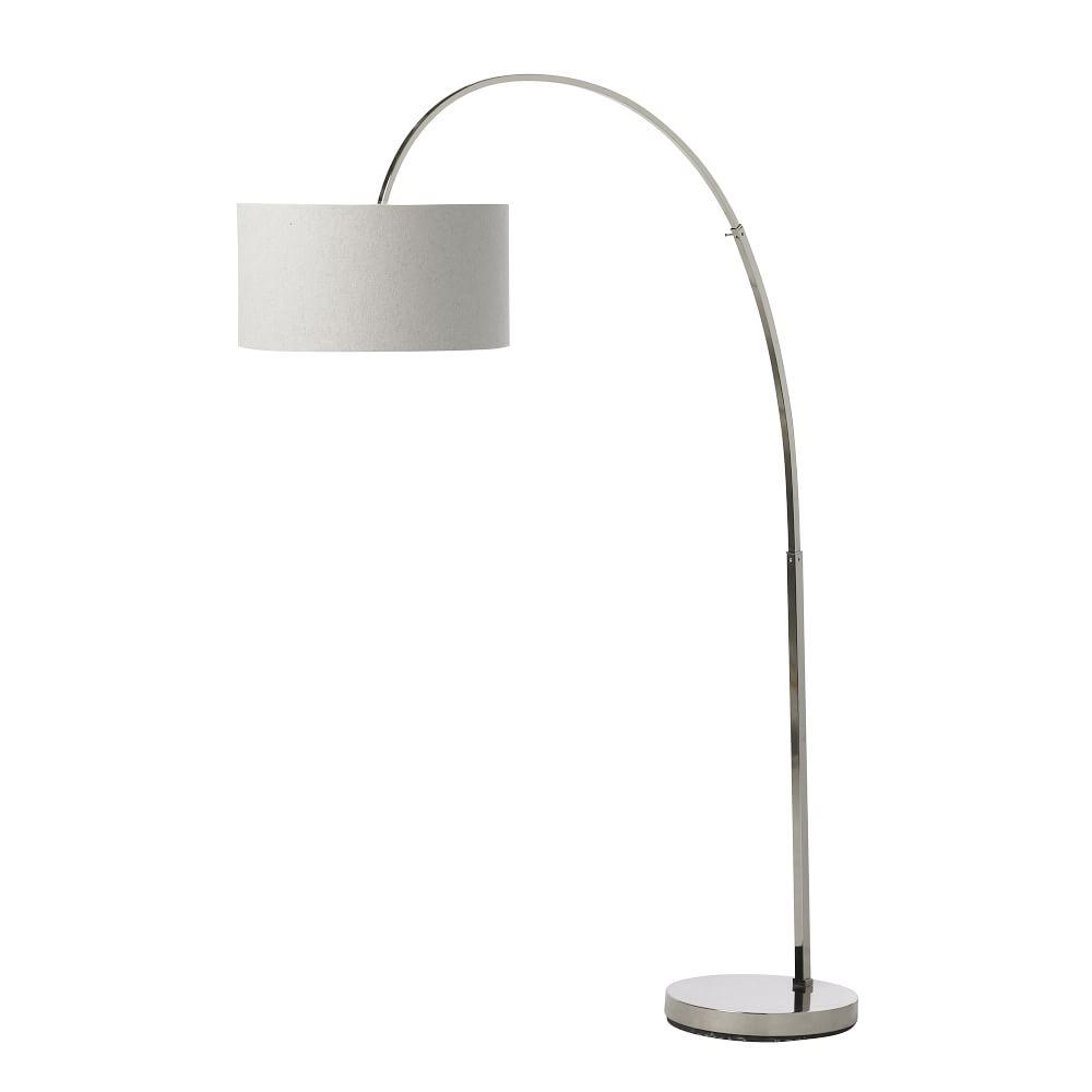 Overarching floor lamp polished nickelwhite west elm australia overarching floor lamp polished nickelwhite aloadofball Image collections