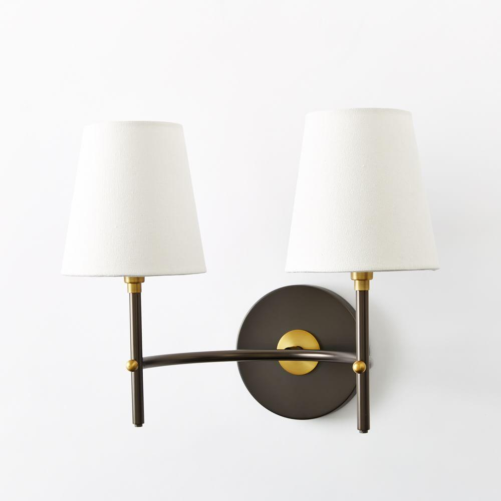 Wall Lamps West Elm : Arc Mid-Century Sconce - Double (Antique Bronze) west elm AU