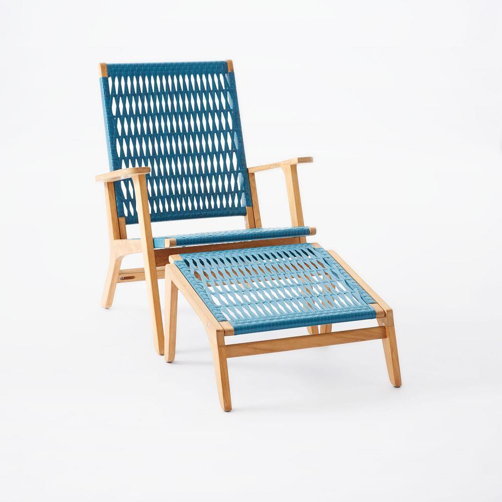 Wooden Wicker Furniture ~ Catskill wood wicker chair teak teal