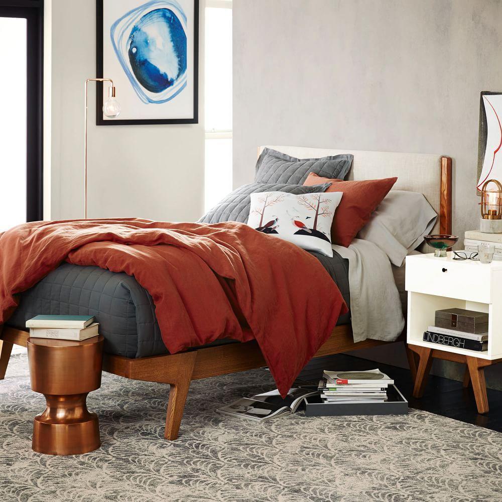 Modern bed linen weave west elm australia for Bedroom inspiration west elm