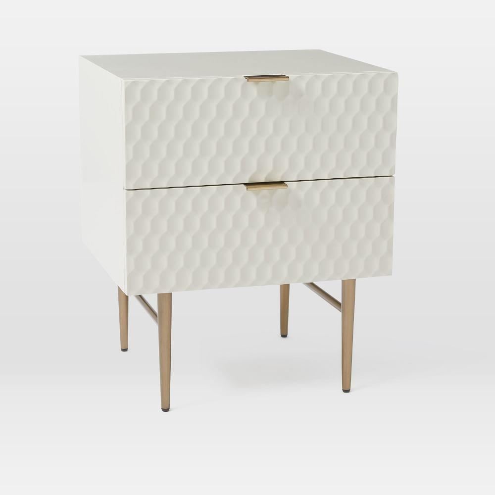 Audrey Bedside Table Parchment West Elm AU