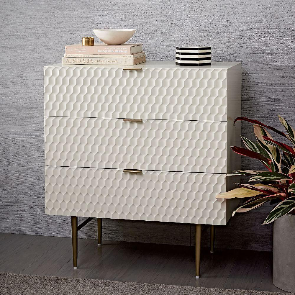 Audrey 3 Drawer Dresser Parchment West Elm Au