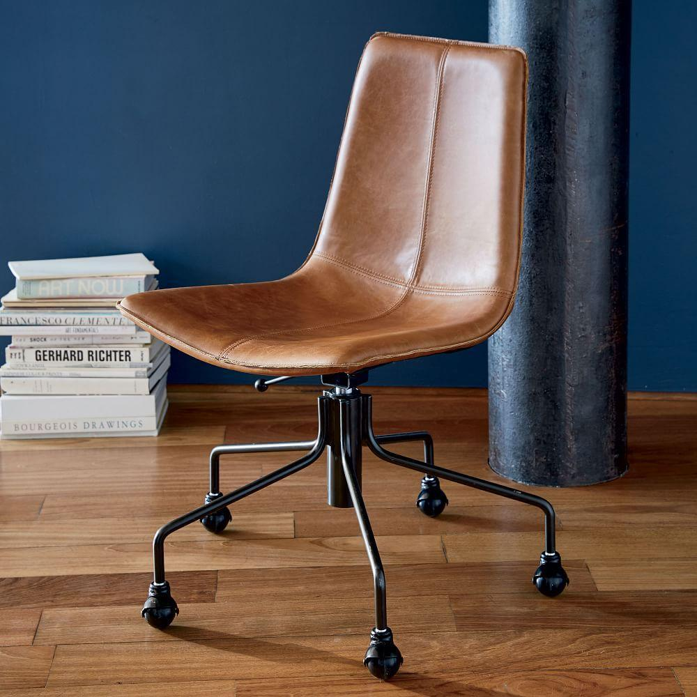 Slope Leather Office Chair | west elm Australia