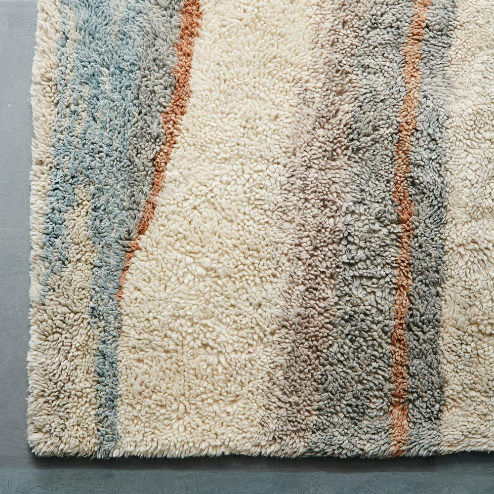 Marbled Wool Shag Rug Multi West Elm Au