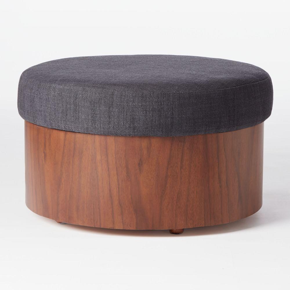 Upholstered Storage Ottoman - Upholstered Storage Ottoman West Elm AU