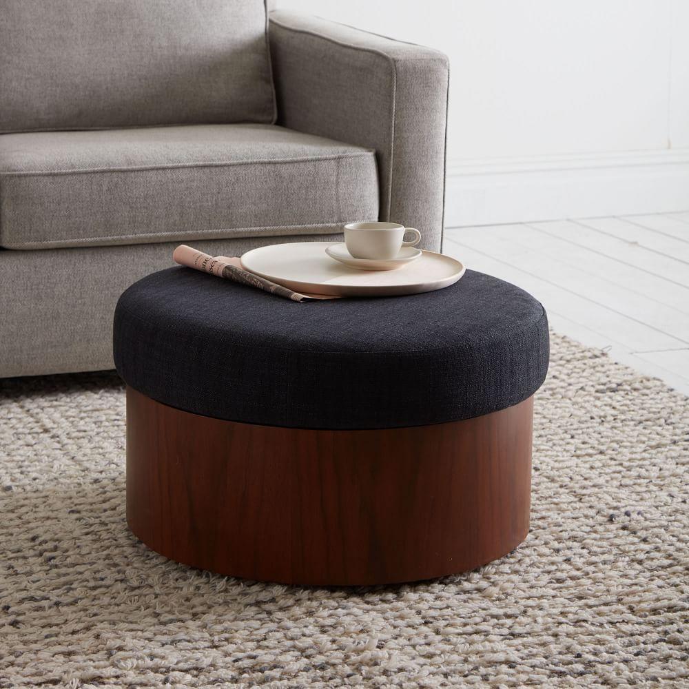 Upholstered Storage Ottoman West Elm Au