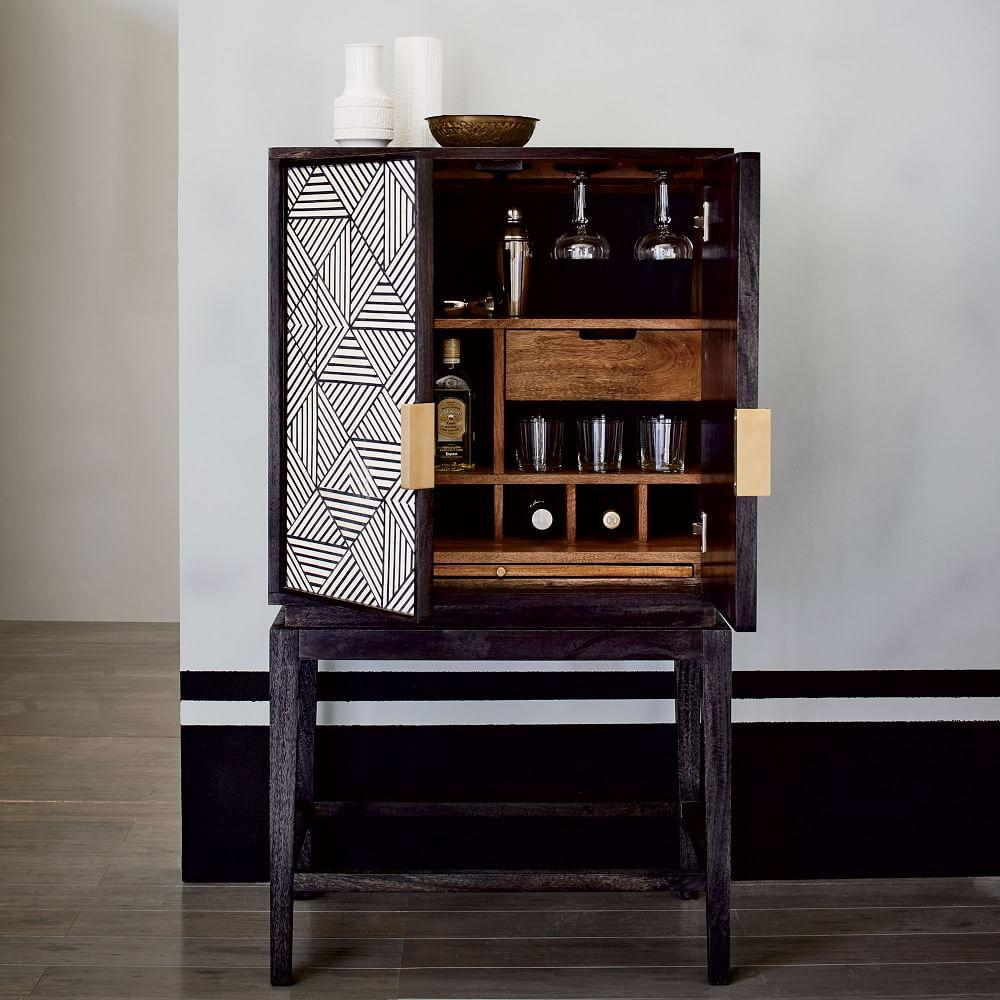 Bone Inlaid Bar Cabinet West Elm Au