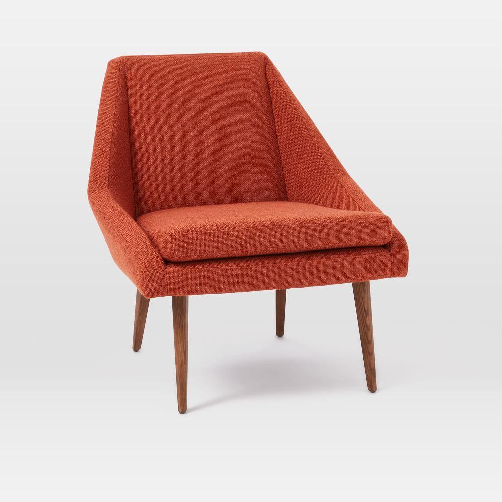 Parker Slipper Chair Burnt Orange