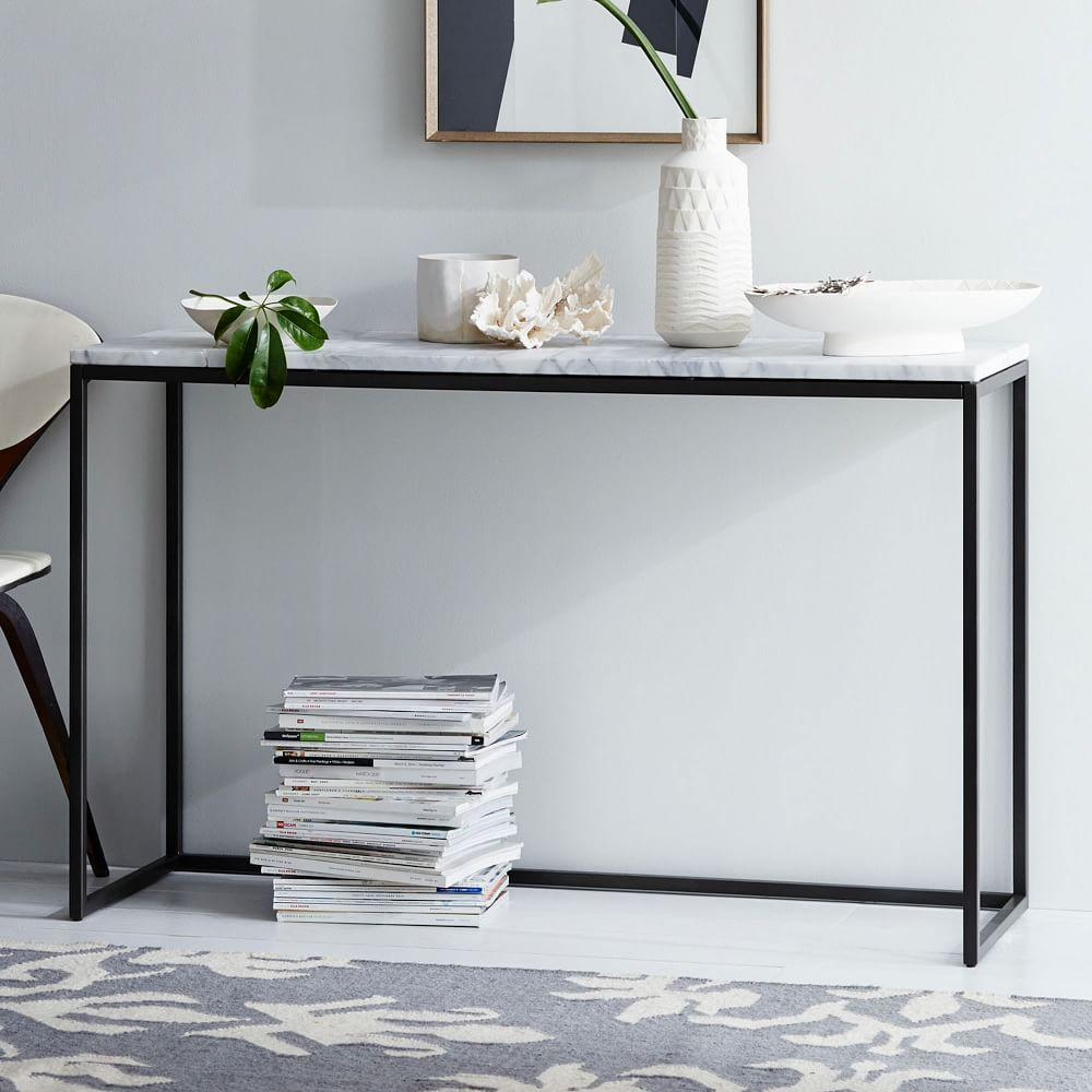 Box Frame Console   MarbleBox Frame Console   Marble   west elm AU. Marble Dining Table West Elm. Home Design Ideas