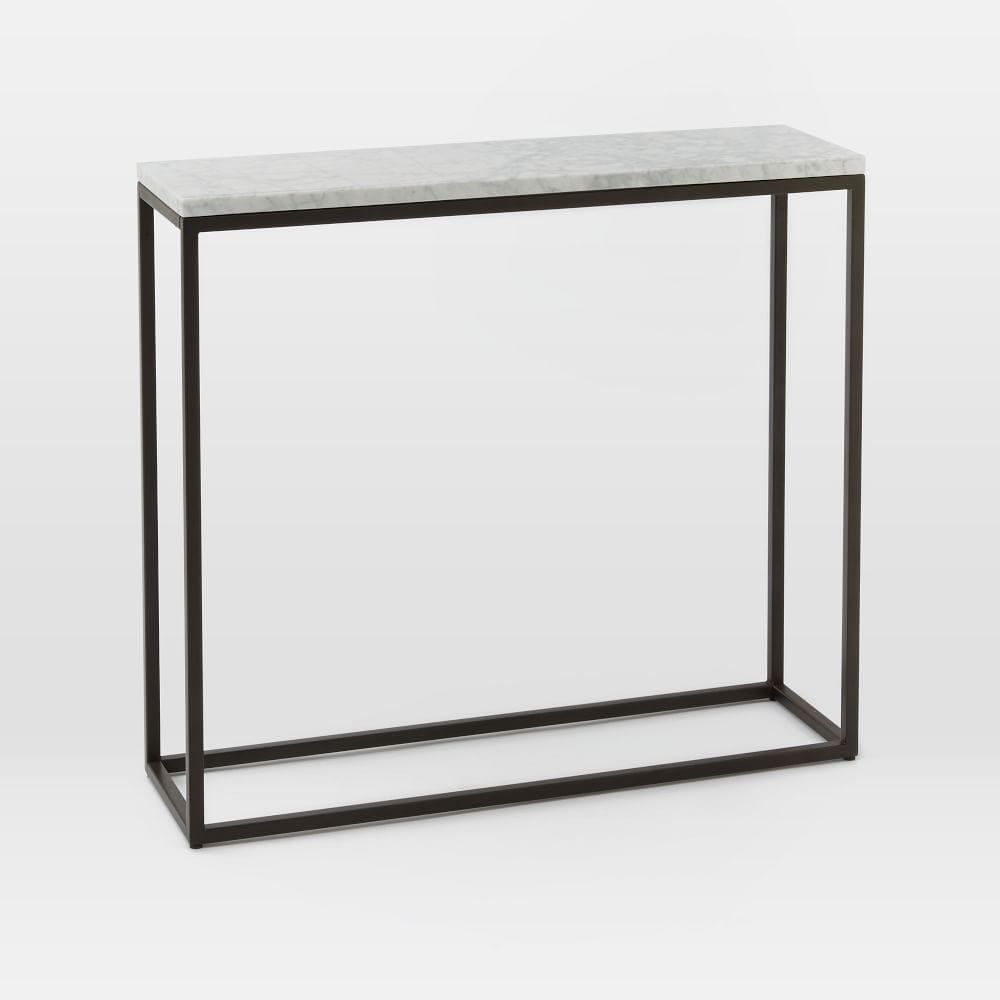 Box frame console marble west elm au box frame console marble geotapseo Image collections