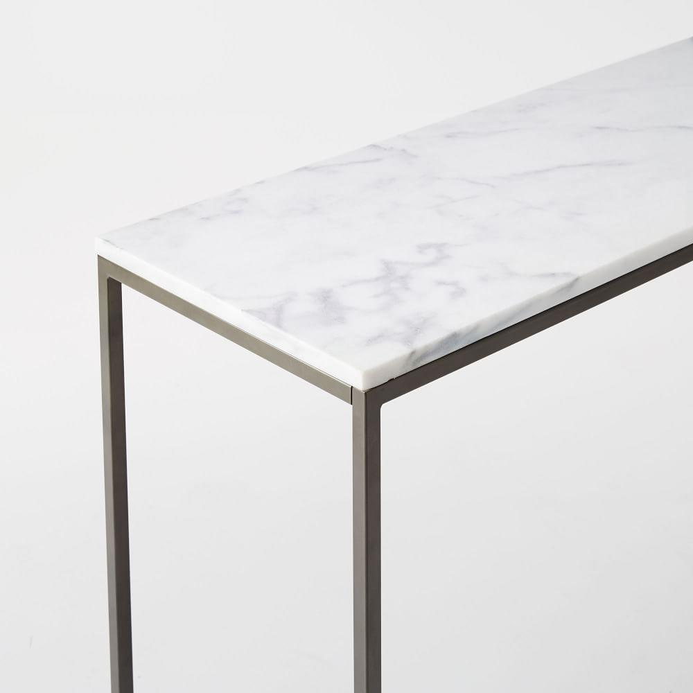 Marble console tables choice image coffee table design ideas box frame console marble west elm au box frame console marble geotapseo choice image geotapseo Choice Image
