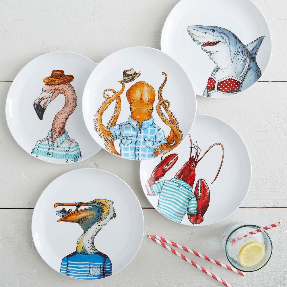 Dapper Animal Plates West Elm Australia