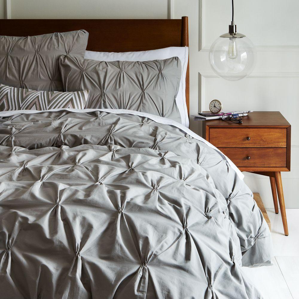 Organic Cotton Pintuck Quilt Cover Pillow Shams