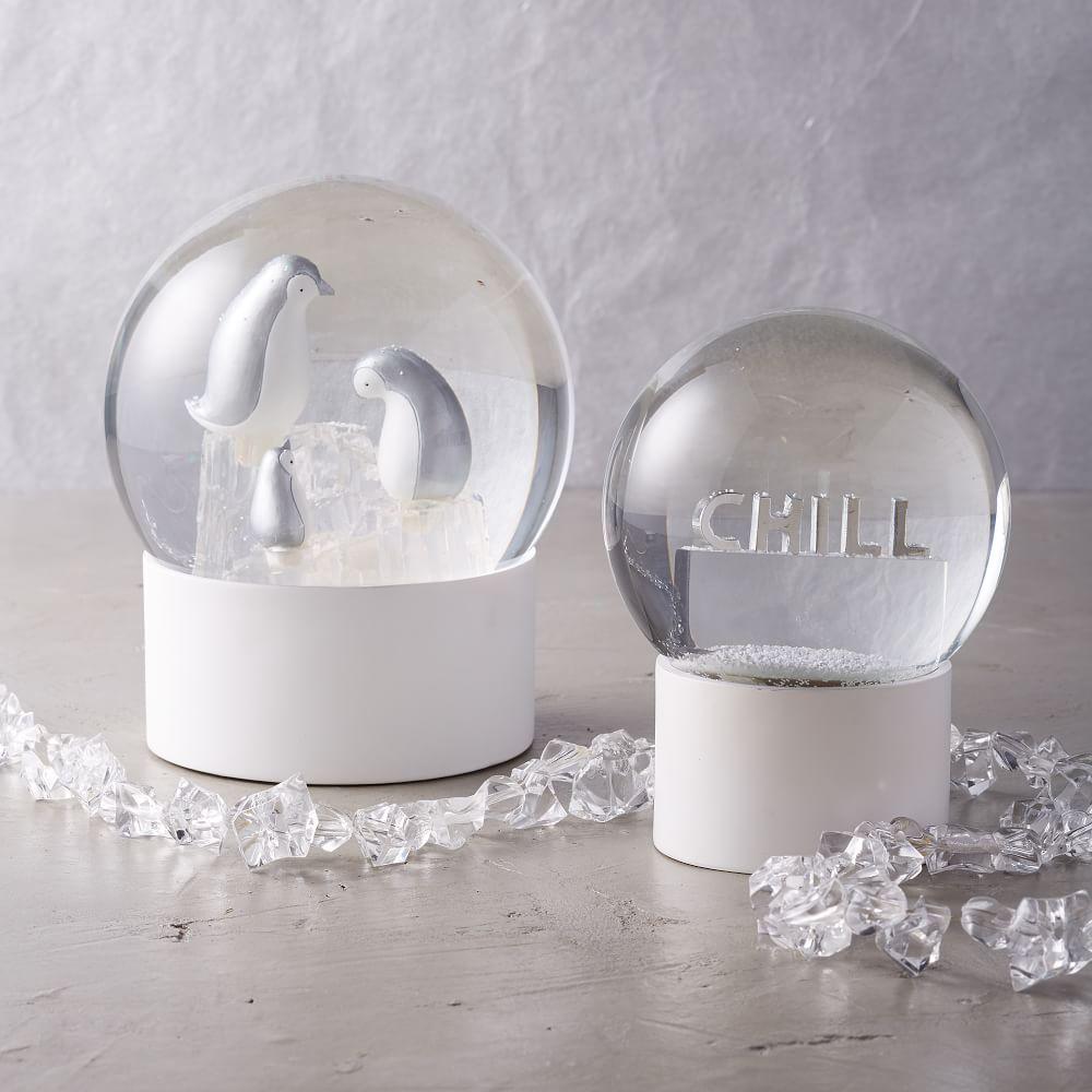 Led Light Up Snowing Snow Globes West Elm Australia
