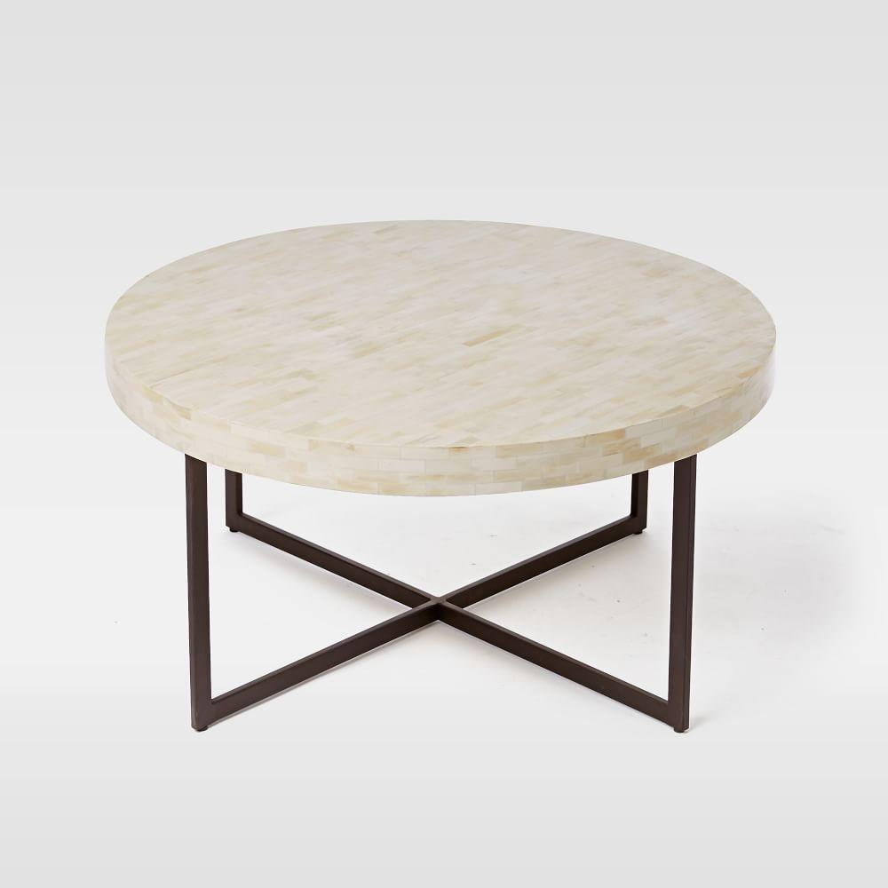Bone and Brown Interlude Cohen Coffee Table