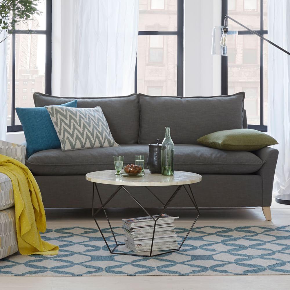 Origami coffee table west elm au - Telas para sofa ...